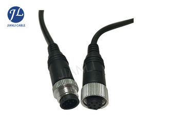 Custom M12 Extension Cable With 8 Pin Male To Female Waterproof Connector